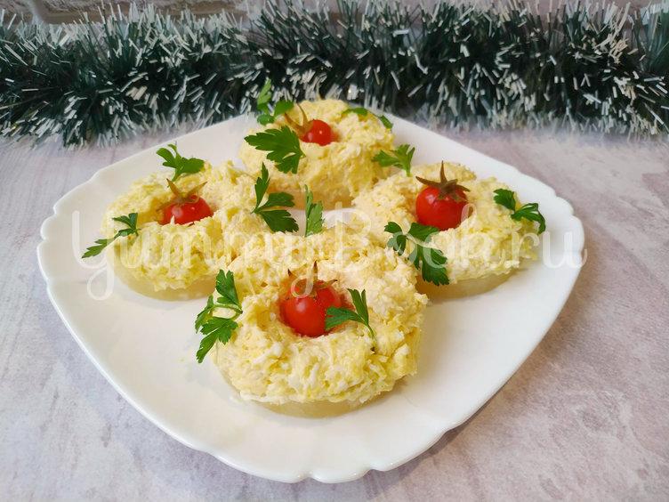 Закуска на ананасовых кольцах - шаг 3