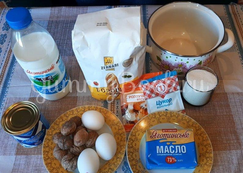 Торт на сковороде с заварным кремом - шаг 1