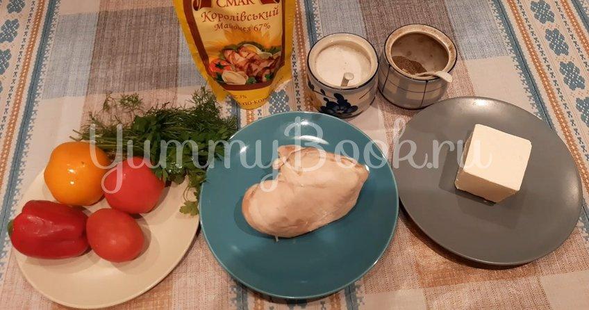 Салат с курицей, сыром «Фета» и овощами - шаг 1