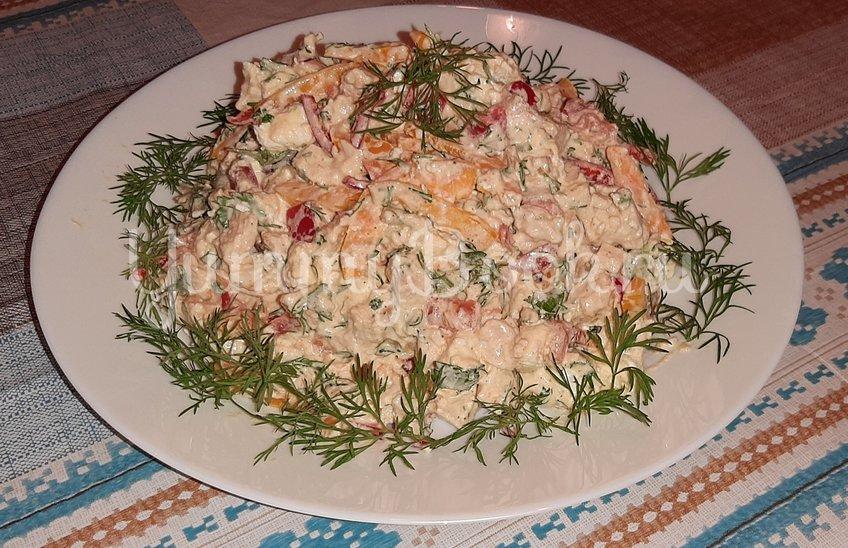 Салат с курицей, сыром «Фета» и овощами - шаг 3