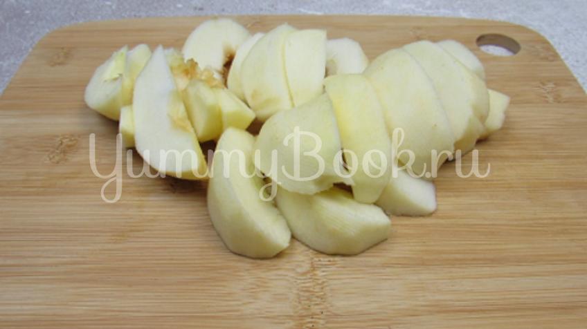 Яблочный пирог на кефире - шаг 6