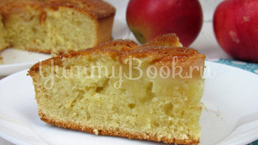 Яблочный пирог на кефире - шаг 9