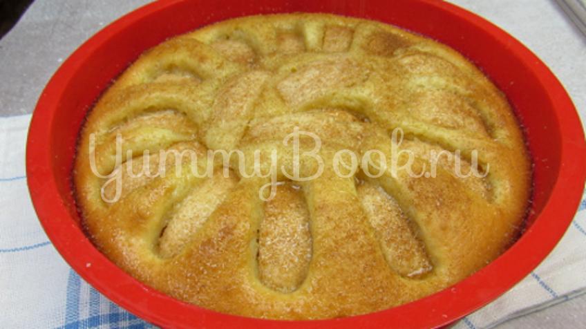 Яблочный пирог на кефире - шаг 8