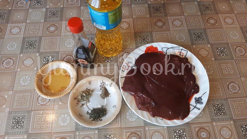 Печень в пряной медовой глазури - шаг 1