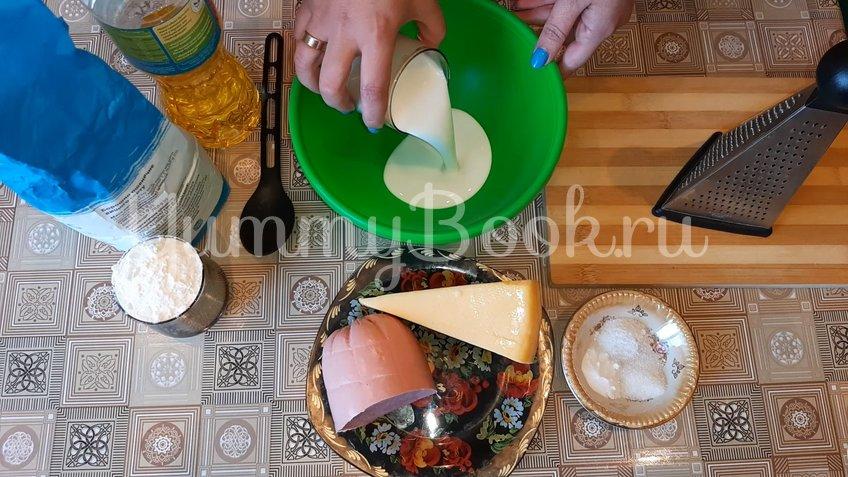 Сырные лепешки на кефирном тесте с начинкой - шаг 1