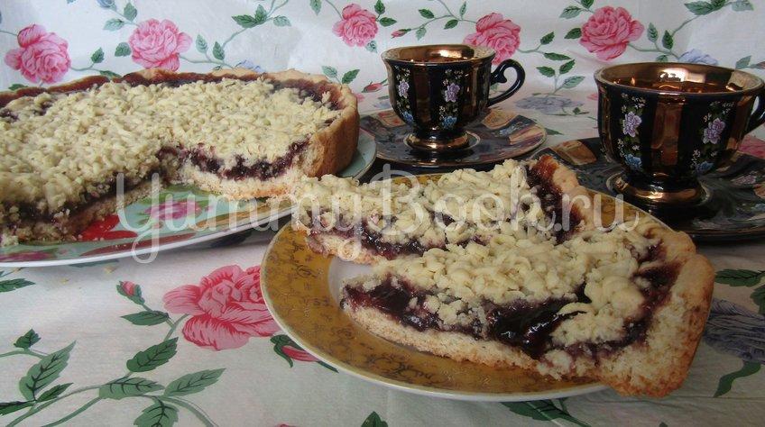 Постный тертый пирог с виноградным джемом - шаг 3