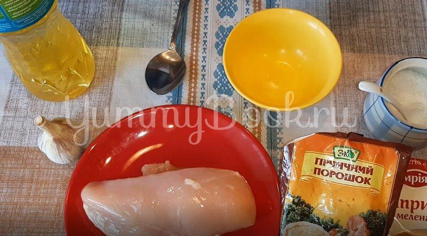 Куриное филе в горчично-чесночном маринаде - шаг 1