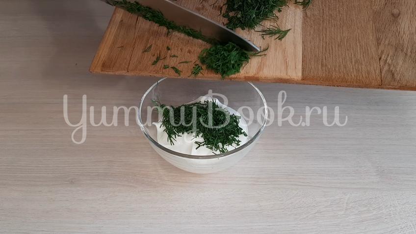 Закуска из шампиньонов с чесночным соусом - шаг 1