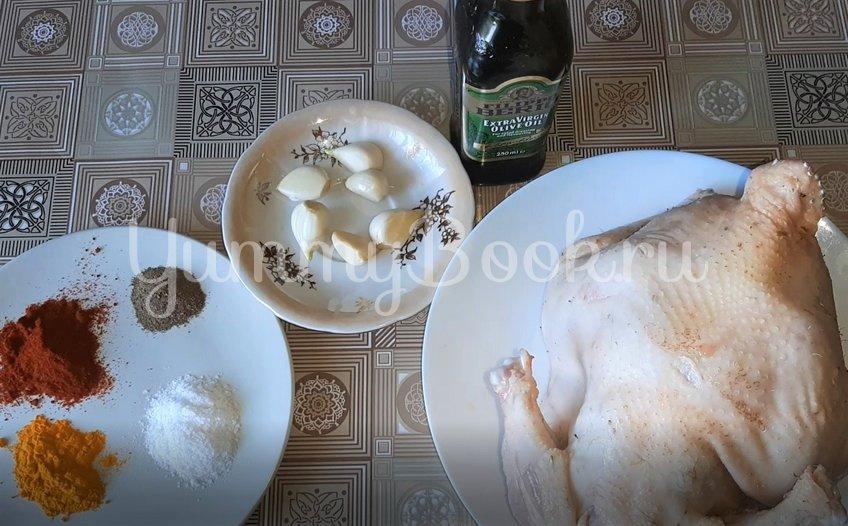 Курица, запеченная в духовке целиком - шаг 1