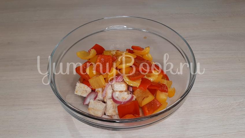 Тосканский овощной салат Панцанелла - шаг 16