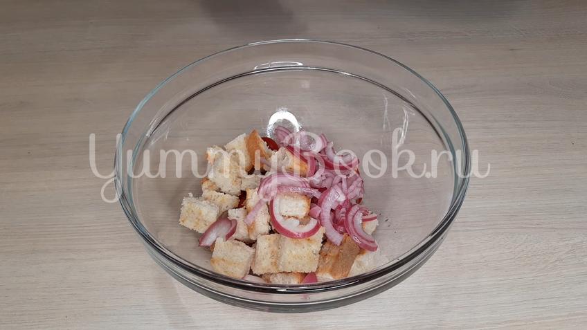 Тосканский овощной салат Панцанелла - шаг 15
