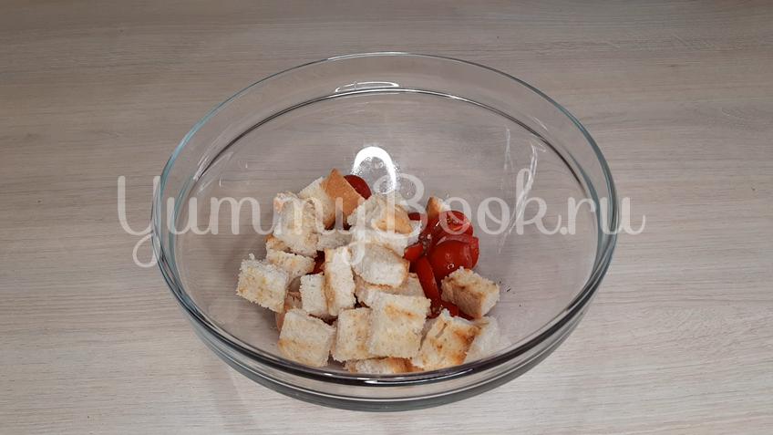 Тосканский овощной салат Панцанелла - шаг 14