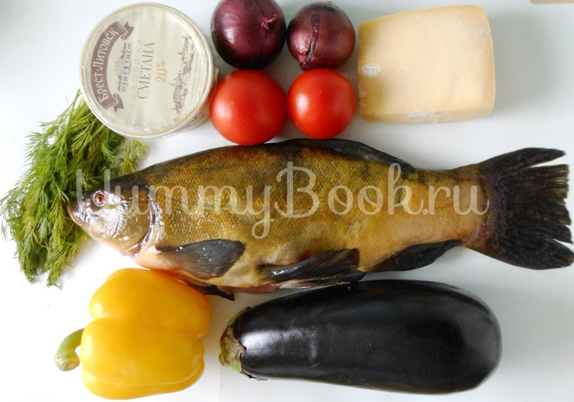 Линь, фаршированный овощами и запечённый в духовке - шаг 1