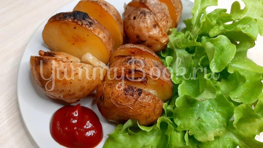 Картошка запечённая с салом - шаг 9