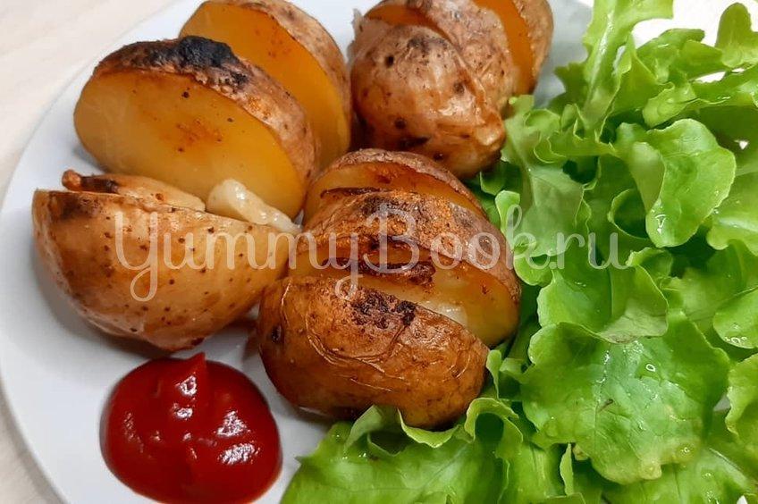 Картошка запечённая с салом
