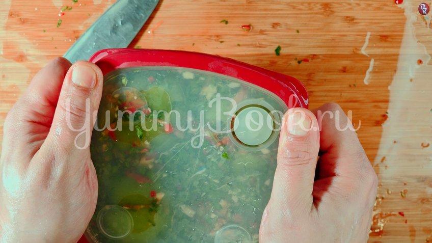 Квашеные фаршированные зеленые помидоры - шаг 8