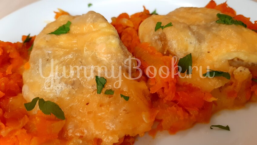 Филе минтая с морковкой в духовке - шаг 11