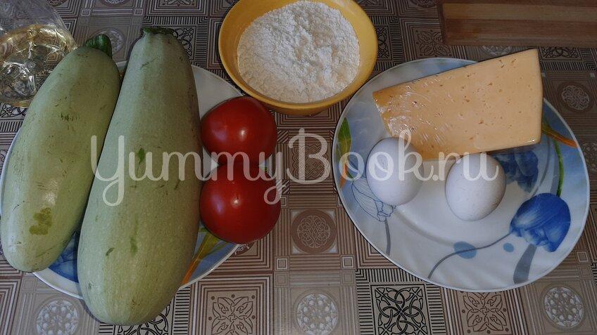 Овощная запеканка из кабачков с помидорами и сыром - шаг 1