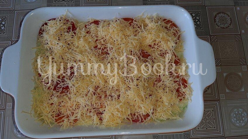 Овощная запеканка из кабачков с помидорами и сыром - шаг 3
