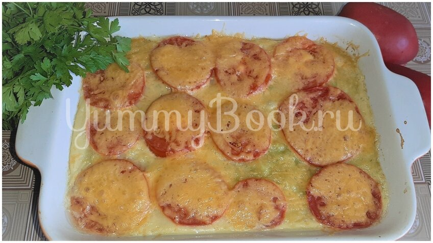 Овощная запеканка из кабачков с помидорами и сыром - шаг 4