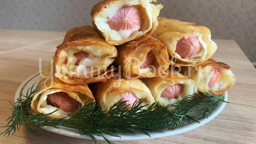 Сосиски в лаваше в картофельно-сырной шубке - шаг 3