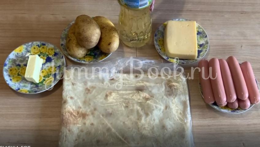 Сосиски в лаваше в картофельно-сырной шубке - шаг 1