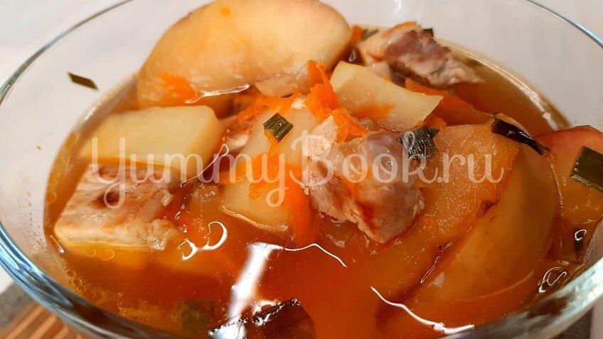 Яблочный суп со свининой - шаг 9