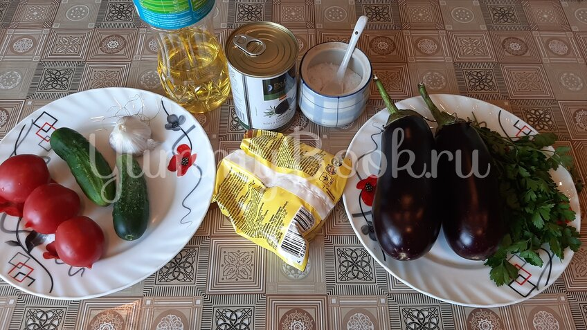 Закуска из баклажанов «Павлиний хвост» - шаг 1