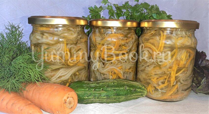 Салат на зиму «Огурцы с морковью по-корейски»  - шаг 3