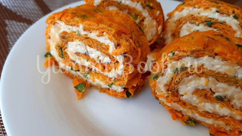 Морковный рулет с сыром - шаг 10