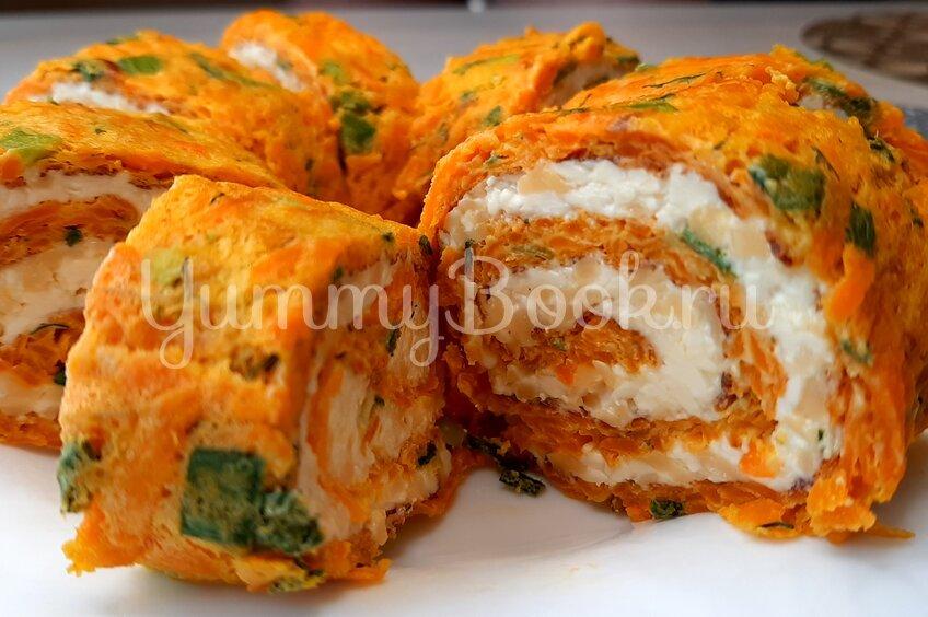 Морковный рулет с сыром