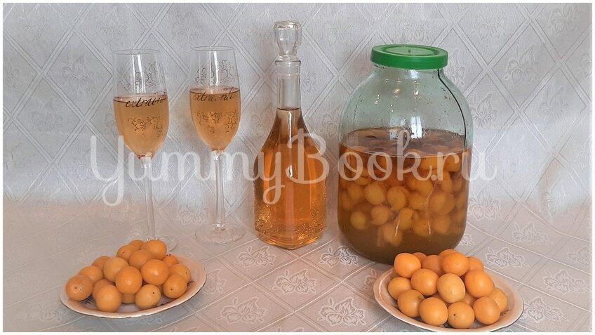 Домашнее «шампанское» (настойка) из плодов алычи - шаг 3