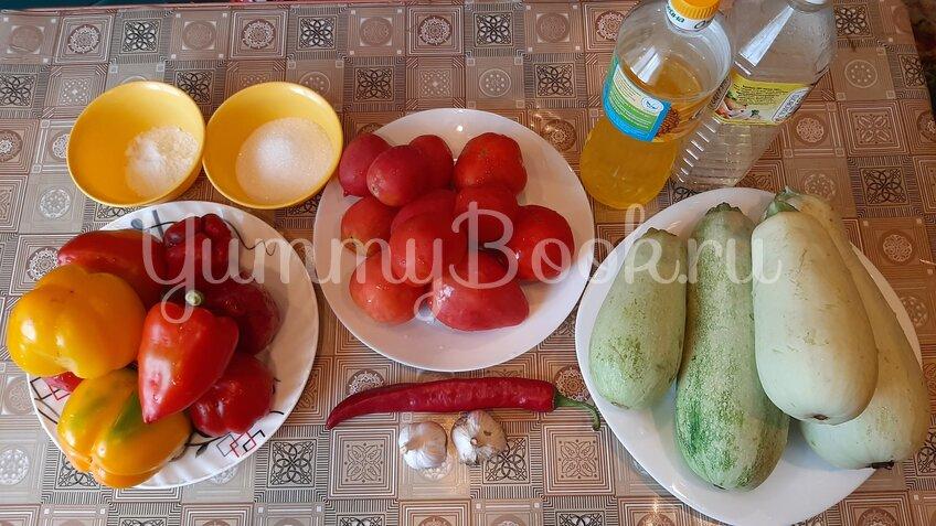 Салат из кабачков в томатном соусе на зиму - шаг 1