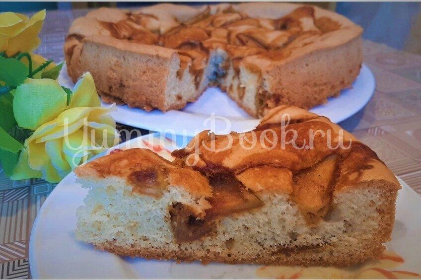 Пирог с карамелизированными яблоками
