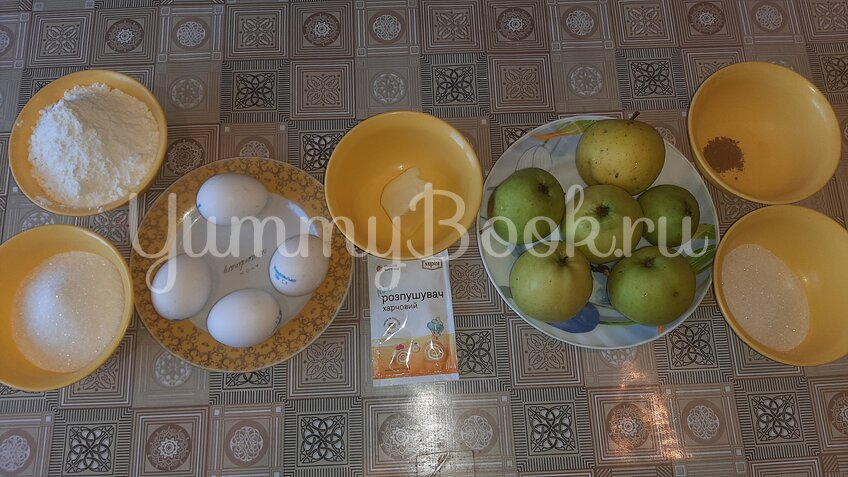 Пирог с карамелизированными яблоками - шаг 1