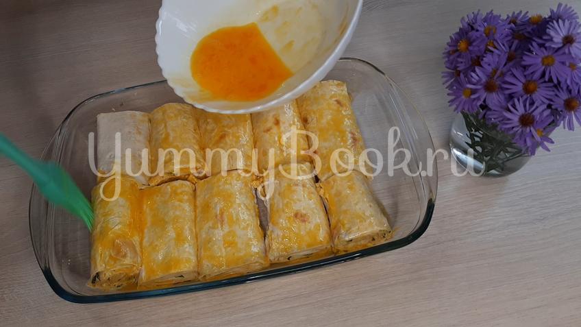 Лаваш с яйцом и сыром - шаг 8