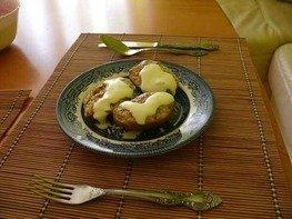 Половинки картофельные с творогом