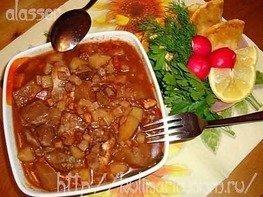 Рагу из баранины и овощей