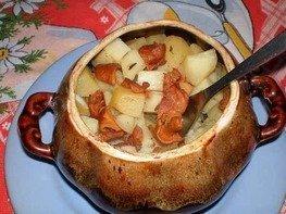Говядина в горшочках с овощами