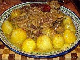 Говяжья грудинка с картофелем и сладкими перцами