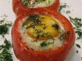 Глазунья в помидоре