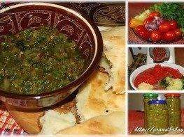 Соус из помидоров и зеленых перцев