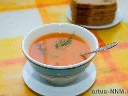 Суп из паприки и томатов с укропом