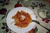 Паста с соусом из томатов и сыра