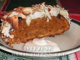 Морковный пирог c орехами