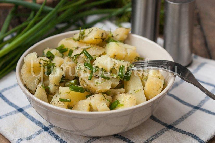 Салат Картофельный с зеленым луком - шаг 6