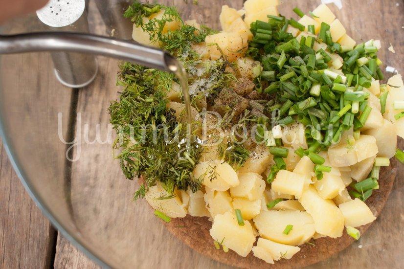 Салат Картофельный с зеленым луком - шаг 4