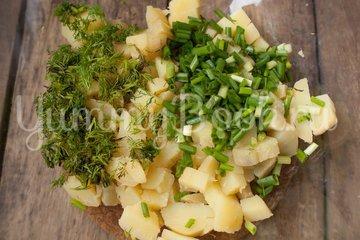 Салат Картофельный с зеленым луком - шаг 3