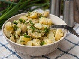 Салат Картофельный с зеленым луком