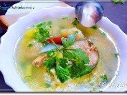 Суп рыбный с галушками